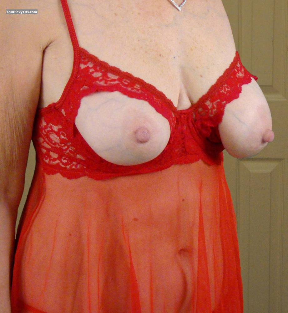 Tit Flash: Wife's Medium Tits - Diana from United States